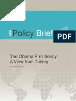 SETA Policy Brief No 29 the Obama Presidency a View From Turkey