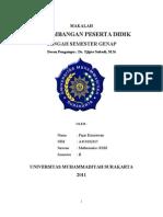 Makalah Ppd Fajar Kurniawan a410102015 Mathematic