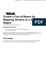 Create a Can of Beans by Mapping Vectors to a 3D Object _ Vectortuts