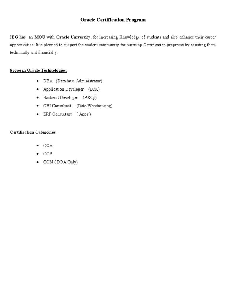 Oraclecertificationpathsc Plsql Oracle Database
