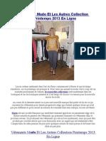 Vêtements Mado Et Les Autres Collection Printemps 2013 En Ligne