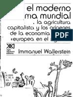 El Moderno Sistema Mundial Immanuel Wallerstein
