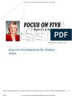 Focus on Five - Bonnie Crombie's Ward 5 E-Newsletter (February 18 - March 4, 2013)