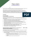 Micah's Resume (2008) Public Recruitment