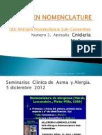Allergen Nomenclature, Cnidaria, Mollusca,Nemata