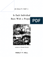 Is Each Individual Born With a Purpose - Manly Palmer Hall