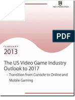 The US Video Game Industry Outlook to 2017 - Transition from Console to Online and Mobile Gaming