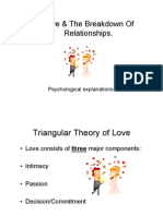 Love & the Breakdown of Relations
