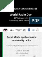 Social Media Applications in Community Radios_KenTel