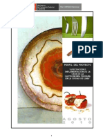Caso SNIP-Perfil Casa Gastronómica