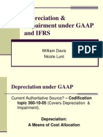 Davis & Lunt - Depreciation & Impairment