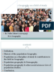 Population Geography as a Field of Study