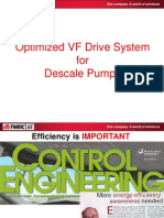 Optimized Descale Pump Drive System