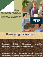 1 - Menyusun proposal (PENELITIAN KUANTITATIF).ppt