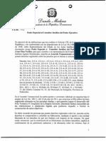 Poder especial al Consultor Jurídico (caso Pedernales)