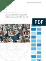 WEG Motores Lineas de Productos Baja Tension Mercado Latinoamerica 50 y 60 Hz 274 Catalogo Espanol