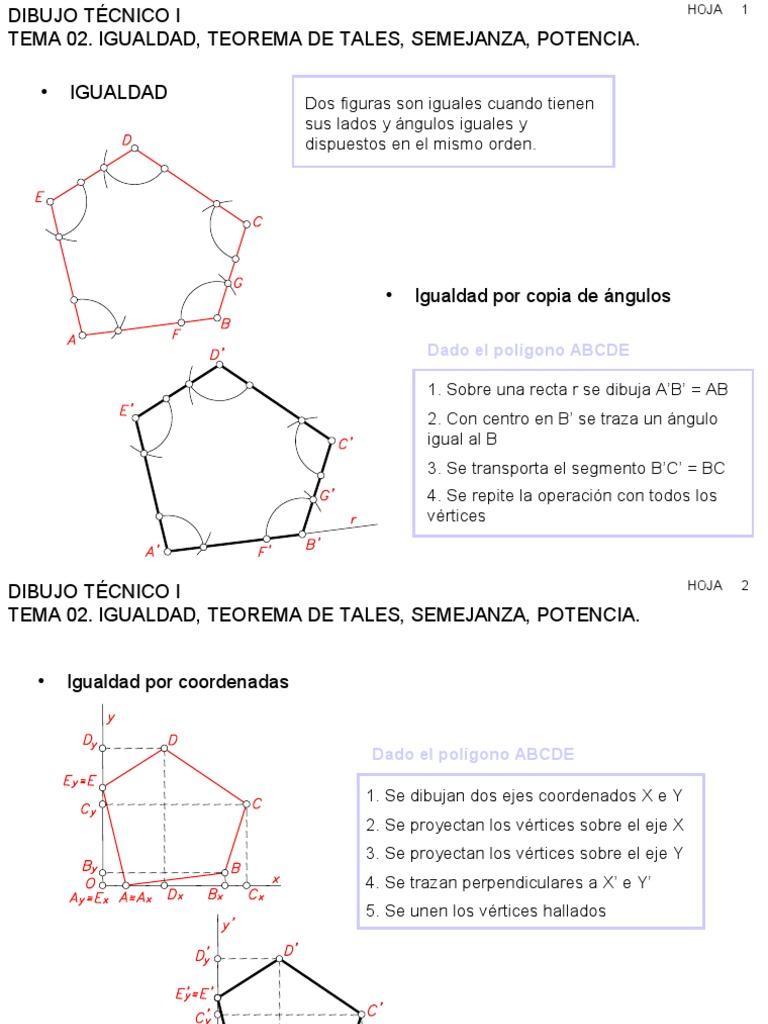 Dibujos.teorema de Thales