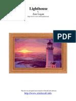 cross stitch design of lighthouse