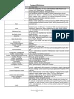 Definiciones en inglés para gerencia de proyectos