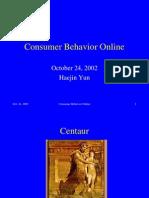 Consumer Behavior Online