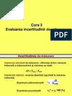 03 - Evaluarea Impreciziei de Masurare