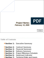 Executive Project Review Summary Presentation Template