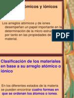 3.- Arreglos atómicos y iónicos
