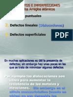 5.- Defectos e Imperfecciones