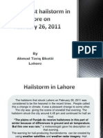 The Heaviest Hail Storm in Lahore