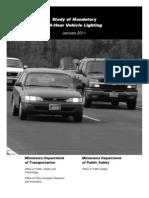 24 hour vehicle lighting report (February 18, 2013)
