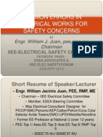 Common Errors in Elec. Works..Power Point