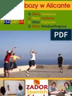 Obozy Jezykowe Sportowe w Hiszpanii 2013