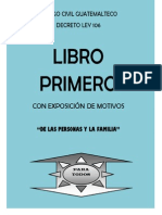 Codigo Civil - Libro I - Exposicion Motivos - Guatemala
