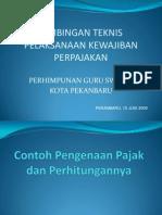 Contoh Pengenaan Pajak Dan Perhitungannya-2011