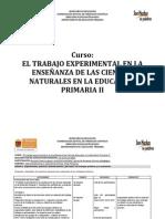 Carta Descriptiva Ciencias Naturales Primaria II