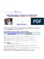 TREZIREA INIMII ILUMINATE - BUCURESTI- Formular Inscriere -  Martie 28, 2013
