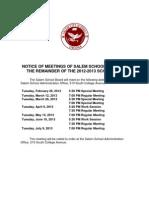 Revised School Board-Meetings 2012-2013