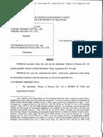 Endo Pharms. Inc. v. TWI Pharms., Inc., C.A. No. 12-848-GMS (D. Del. Feb. 11, 2013)