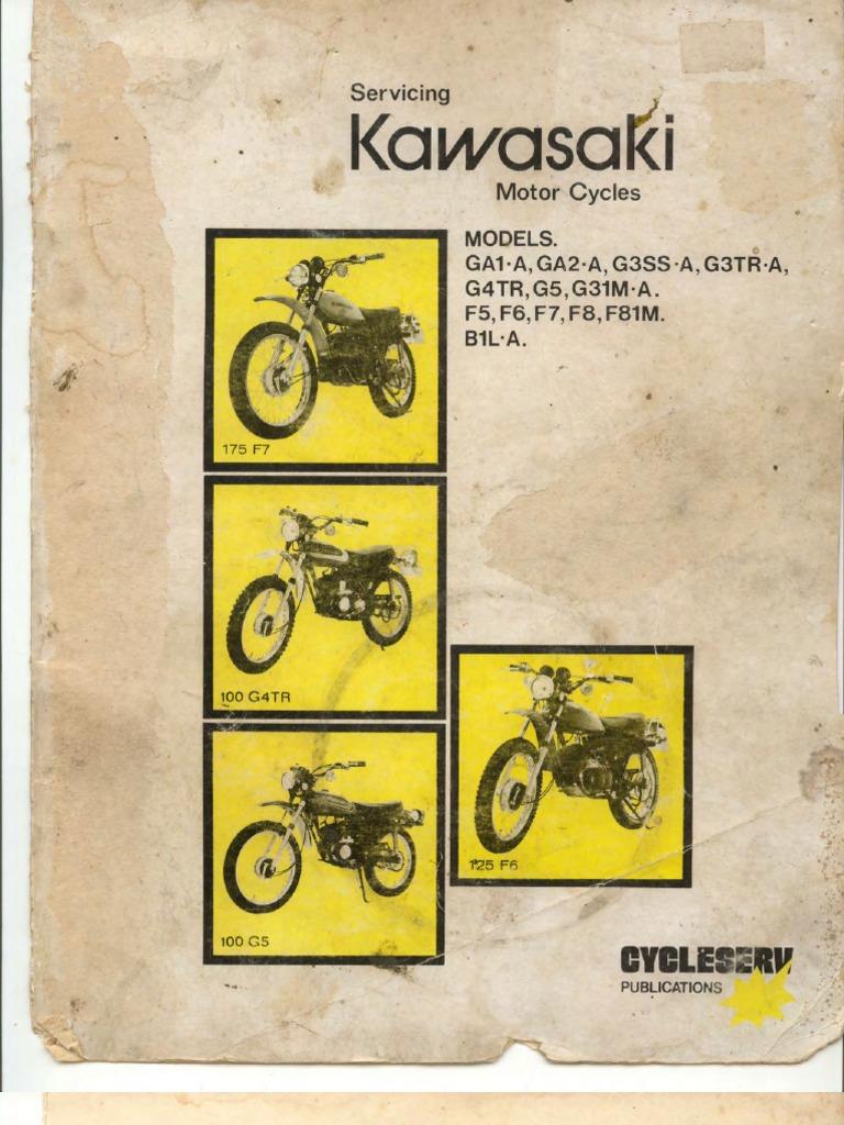 Kawasaki G5 100 Wiring Diagram Besides Ke Manual Ga1 Ga2 G3ss G3tr G4tr Piston Cylinder Engine Rh Scribd Com
