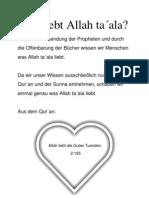 Was liebt Allah ta´ala