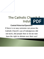 the catholic church indulgences