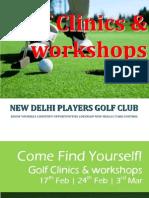New Delhi Players Golf Club_Clinics and Workshops