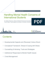Handling Mental Health Concerns of International Students | Spring EAIE Academy 2012