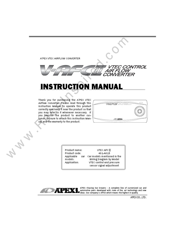 Super Afc 2wire Diagram Wiring Library Apexi Safc V Ii Manual Engines Engine Technology