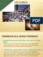 Terremotos en La Biblia