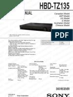 Dvd Receiver Sony Hbd-tz135 Dav-tz135 v.1.1