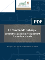 Rapport CES Commande Publique