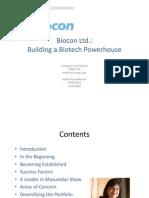 Biocon Ltd Brief - Robert Paul Ellentuck