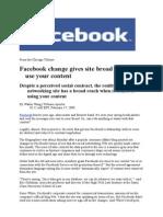 FACEBOOK - NEWS 2´2009 (updated 18.2.2009)