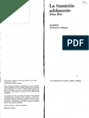 Blos1979 La Transición Adolescente Psiquis Psicología